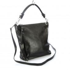 1102 (BB) black Barcelo Biagi женская кожаная сумка