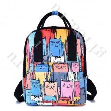 Рюкзак Молодежный с котами DST-005