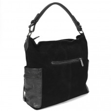 10196A-TA black Barcelo Biagi женская замшевая сумка в стиле casual