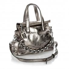 506 (BB) silver Barcelo Biagi женская кожаная сумка
