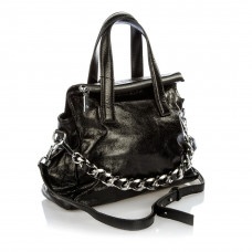 506 (BB) black Barcelo Biagi женская кожаная сумка