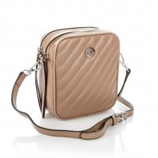 6187 (BB) pink (беж) Barcelo Biagi женская кожаная сумка