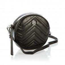 6186 (BB) black Barcelo Biagi женская кожаная сумка