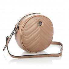 6186 (BB) pink (беж) Barcelo Biagi женская кожаная сумка