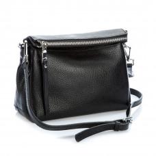 8113 (BB) black Barcelo Biagi женская кожаная сумка