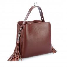 C0028 (BB) red Barcelo Biagi женская кожаная сумка