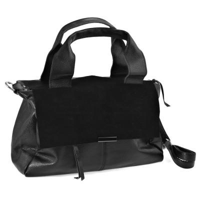 10344 Black Barcelo Biagi женская кожаная сумка