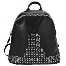 8802-1 black Barcelo Biagi рюкзак - унисекс черный из экокожи (искусственная кожа)