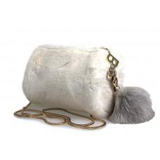 6065 white Barcelo Biagi женский клатч из искусственного меха