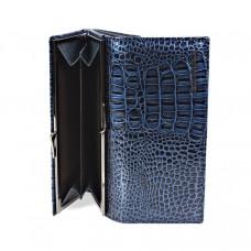 K2-1011 blue Barcelo Biagi женский кожаный кошелёк