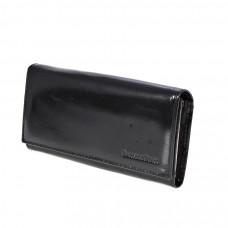 K1-1013 black Barcelo Biagi женский кожаный кошелёк