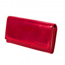 K1-1013 red Barcelo Biagi женский кожаный кошелёк
