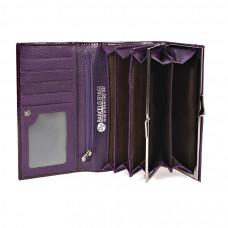 K1-1013 purple Barcelo Biagi женский кожаный кошелёк
