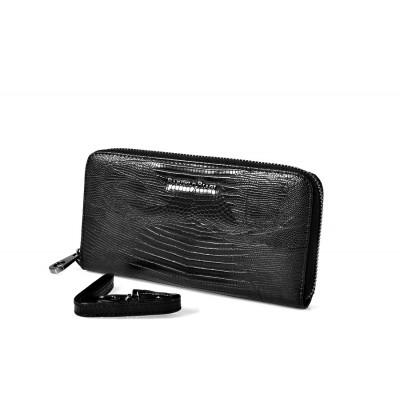 420923 black Barcelo Biagi женский кожаный кошелёк
