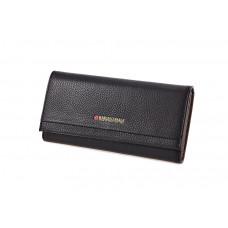 GM330-3Z K26 black Чёрный, Barcelo Biagi женский кожаный кошелёк