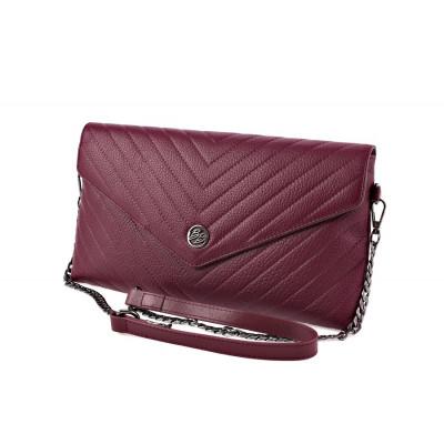 Небольшая женская сумка через плечо  Barcelo Biagi GW017-10 wine red