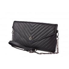 Barcelo Biagi женская сумка клатч из натуральной кожи GW017-10 черного цвета