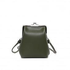 Женская кожаная сумка MIRONPAN 80718 цвет Зелёный