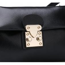 Маленькая сумка через плечо женская кожаная MIRONPAN 16015 черная