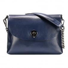 Маленькая женская кожаная сумка на плечо MIRONPAN 6804 цвет Синяя