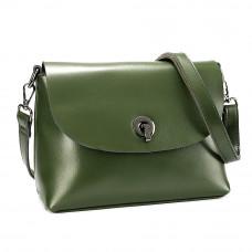Маленькая женская кожаная сумка на плечо MIRONPAN 6804 цвет Зеленая