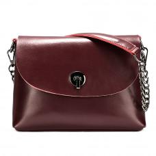 Маленькая женская кожаная сумка на плечо MIRONPAN 6804 цвет Бордовая