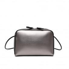 Женская сумка из натуральной кожи MIRONPAN 80651 цвет Серебро