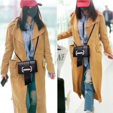 Маленькая женская кожаная сумка на плечо MIRONPAN 70309 цвет Черный