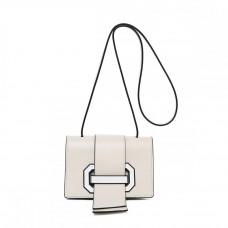 Маленькая женская кожаная сумка на плечо MIRONPAN 70309 цвет Белый