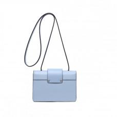 Маленькая женская кожаная сумка на плечо MIRONPAN 70309 цвет Синий пепел