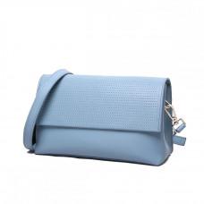 Женская кожаная сумка MIRONPAN 16358 цвет Синий пепел