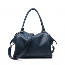 Женская кожаная сумка MIRONPAN 776217 цвет Темно-синий