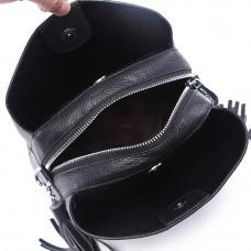 Большая женская сумка MIRONPAN 1201 черного цвета из кожи