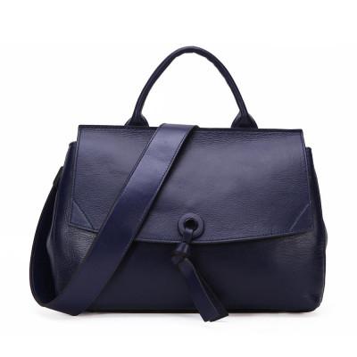 Женская кожаная сумка MIRONPAN 88011 цвет Темно-синий
