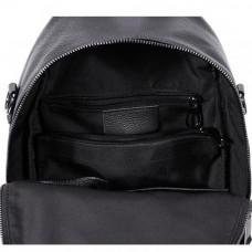 Женский кожаный рюкзак MIRONPAN 82301 цвет Черный