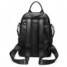 Женский рюкзак кожаный MIRONPAN 82201 цвет Черный