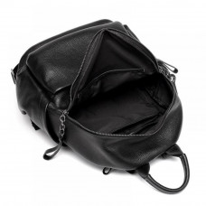 Женский кожаный рюкзак MIRONPAN 81631 цвет Черный