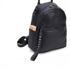 Рюкзак кожаный MIRONPAN 69071 цвет Черный