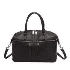 Женская сумка из натуральной кожи MIRONPAN 1226 цвет Черный