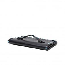 Женская кожаная сумка MIRONPAN 80223 цвет Синий пепел