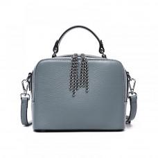 Женская кожаная сумка MIRONPAN 181209 цвет Синий пепел