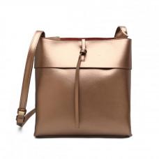 Маленькая женская кожаная сумка на плечо MIRONPAN 16332 цвет Золото