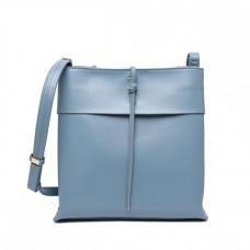 Маленькая женская кожаная сумка на плечо MIRONPAN 16332 цвет Голубая