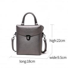 Женская сумка из натуральной кожи MIRONPAN 181208 цвет Темное серебро
