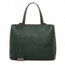 Женская кожаная сумка MIRONPAN 9024 цвет Темно-зеленый