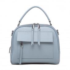 Женская кожаная сумка MIRONPAN 1021 цвет Синий пепел