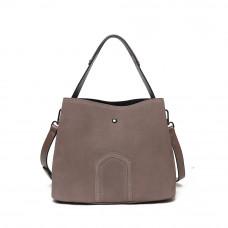 Женская кожаная сумка MIRONPAN Серый