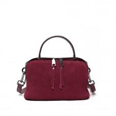 Женская кожаная сумка MIRONPAN Бордовый