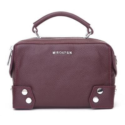 Женская кожаная сумка MIRONPAN 9031 цвет Бордовый