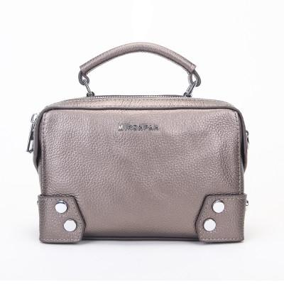 Женская сумка из натуральной кожи MIRONPAN 9031 цвет Темное серебро